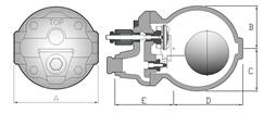 台湾dsc可锻铸铁浮球式蒸汽疏水阀f22,f22f,疏水阀图片